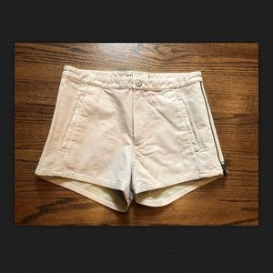 New Free People Beige Faux Leather Shorts Size 4